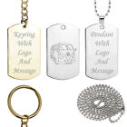 Personalised VW Camper Van Key Ring or Dog Tag Pendant Volkswagen Birthday Gift