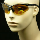 Polarized hd sun glasses night driving vision yellow amber fish anti glare tac