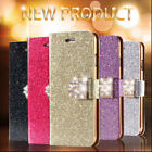 Bling Glitter Wallet Flip Leather Case for Samsung Galaxy S4 S5 i9500 G900I 4G