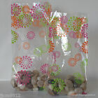 10 Spring Blooms Patterned Cellophane Gift Bags *Choose Size* Easter Cello Bags