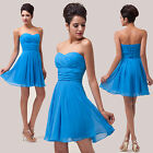 Short Mini Prom Bridal Gown Bridesmaid Evening Party Cocktail Formal Ball Dress