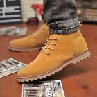 Fashion Men Winter Casual Lace Suede Ankle Boots Loafers Trainers Flat Shoes