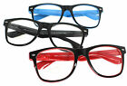 Costume Accessories Nerdy Retro Wayfarer Reading Glasses Frame Red Blue Black