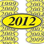 Yellow and Black Oval Year Stickers (multiple item shipping discount) EZ198Y