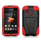 For Samsung Galaxy Rush M830 Advanced Layer HYBRID KICKSTAND Case Phone Cover