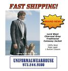 Traditional Morning Coat CHARCOAL GREY CUTAWAY Victorian Formal Jacket NEW