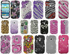 AT&T Samsung Galaxy S3 MINI i8190 Crystal Diamond BLING Case Snap On Phone Cover