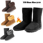 Kyпить Winter Boots Women's Faux Fur Suede Mid Calf Warm Snow Fashion Plush 4 Colors на еВаy.соm