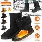 Внешний вид - Winter Boots Women's Faux Fur Suede Mid Calf Warm Snow Fashion Plush 4 Colors