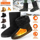Women Winter Warm Boots Faux Fur Suede Mid-Calf Snow Fashion Plush 5-10 US Size