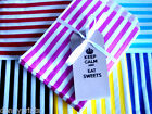 100 Candy Cart Pick n Mix Sweet Bags - Wedding Sweet Buffet - Candy Stripe