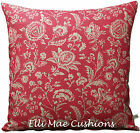 Cabbages and Roses French Toile Shabby Chic Linen Raspberry Cushion Pillow Cover