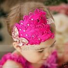 Baby Toddler Children Girls Headwear feather flower crystal Hair Band Headband