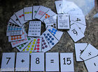 Numbers 0 - 20 Flash Cards, Various designs available with Colour, Maths cards