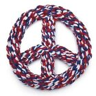 Frisbee Rope Toy  PEACE SIGN RED WHITE BLUE  Tug Toss Chew Dog Dogs Fun Durable