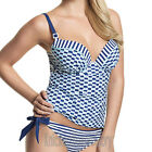 Panache Cleo Lucille Plunge Tankini Top Nautical CW0061 NEW Select Size
