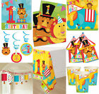 FISHER PRICE 1ST BIRTHDAY BOYS GIRLS CIRCUS ANIMALS PARTY TABLEWARE DECORATIONS