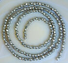 2mm Faceted Natural Pyrite Round Beads 15.5""