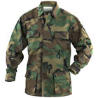 MIL-TEC TACTICAL COMBAT BDU SHIRT MENS HUNTING JACKET AIRSOFT TOP WOODLAND CAMO