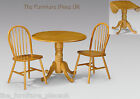 Dundee Solid Wood Drop Leaf Table Dining Set In Honey Pine Finish 2 OR 4 Chairs