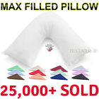 V SHAPED PILLOW AND COVER - ORTHOPAEDIC MATERNITY PREGNANCY NURSING BABY SUPPORT