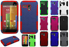 For Motorola Moto G MESH Hybrid Silicone Rubber Skin Case Phone Protector Cover