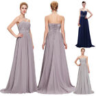 Plus Size Long Bridesmaid Prom Dresses Masquerade Formal Evening PARTY Ball Gown