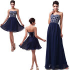 2014 NEW Stock SEXY Long Formal Evening Gown Bridesmaid Prom Wedding Party Dress