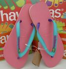 Havaianas Brazil Mix LOGO Neon Pink Flip Flops WOMENS Thongs Sandals