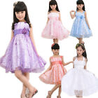 Girls Kids Princess Dress Embroidered Party Dance Performance Wedding Costume