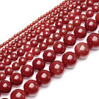1 Strand Natural Red Sea Coral Gemstone Round Ball Spacer Loose Beads 2-11mm
