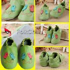 Soft Leather Baby Shoes 0-6,6-12,12-18,18-24 Months Birds Green KDS-GSO-G