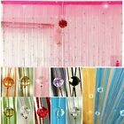 Drop Beaded String Curtain Door Window Divider Room Blind Fly Screen Tassel