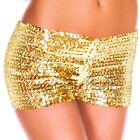 Women's Sparking Sequins Club Wear Party Stretch Shorts Pant Black/Gold/Silver