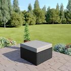 BLACK Rattan Modular Corner Sofa Set Garden Furniture L Shape FREE COVER
