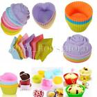 Silicone Cupcake Cake Muffin Chocolate Pans Cases Baking Mold Mould 5 Styles