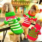 Pet Dog Cat Puppy Clothes T-shirt Dress Striped Knit Sweater Winter Coat Xmas