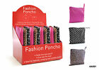 Ladies Showerproof Fashion Poncho in Pouch ~ Ideal for Festivals / Camping
