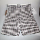 "New Vans junior fulton fitted checkered boys board shorts age 12-14 25""-27""waist"