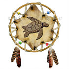 Turtle Totem Spirit Animal Guide Hoop Hide Feathers Earth Symbol Sea T-Shirt