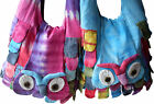 FAIR TRADE NEPALESE COTTON TIE DYE OWL TRAVEL HIPPY BOHO BEACH SHOULDER BAG