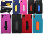 For Sony Xperia Z1S IMPACT Hard Rubber Case Phone Cover Kickstand Accessory