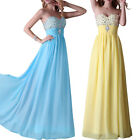 Chiffon Wedding Bridesmaid Long Gown Party Cocktail Evening Prom Dresses UK 6-20