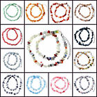 Pugster Beautiful Hot Mixed Gemstone Stone Chips Necklace Pendant Gift For Women