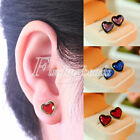NEW Women's Fashion Crystal Big Rhinestone Love Hearts Ear Studs Earrings