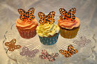 20 Pre Cut Rice Paper Butterfly Cake/Cupcake Toppers - Leopard Print Design