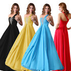 2015 Womens Chiffon Formal Evening Gown Bridesmaid Prom Wedding Party Long Dress