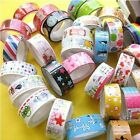 50X Rolls Mixed Cartoon Deco Washi Adhesive Tape Scrapbooking Sticker 1.5X250cm