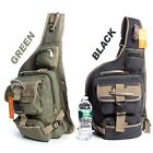 Military Style Cotton Canvas Backpack Sling Bag School Bicycle Outdoor Bag BL617