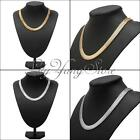 Chunky Statement Link Collar Bib Choker Snake Gold Silver Chain Party Necklace